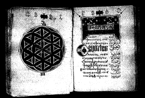 Manuscript of the Seven Theotokias, written in Coptic and Arabic in 1775.